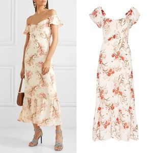NEW Reformation Butterfly Beauty Floral Dress 8
